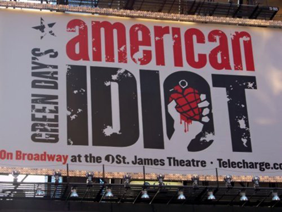 Green Day's American Idiot on Broadway, NYC