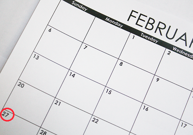 Did You Mark Your Calendar?