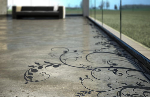 Patterned Floors Painted Stencilled To Perfection