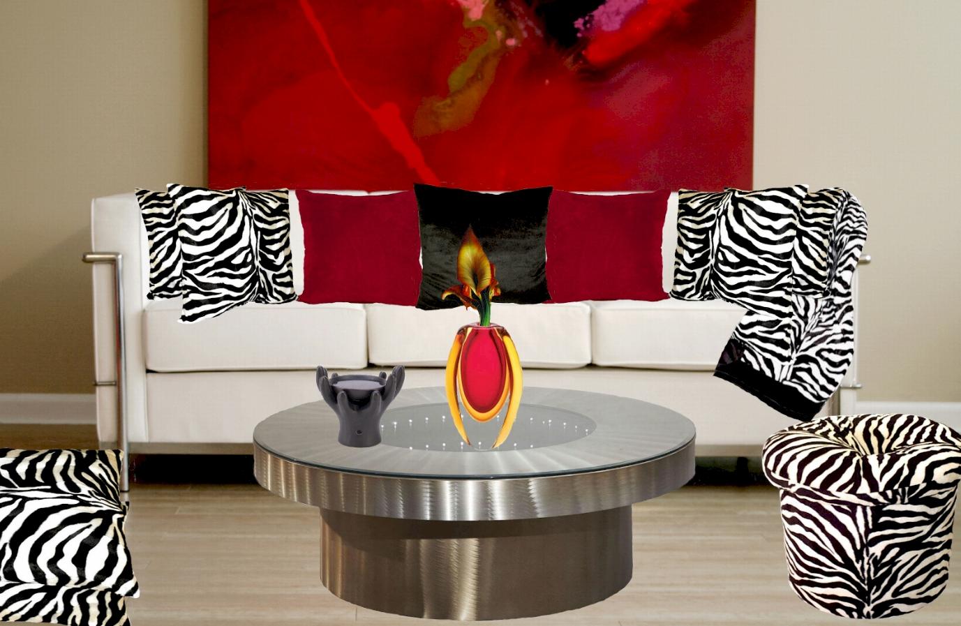 Zebra Living Room Decor