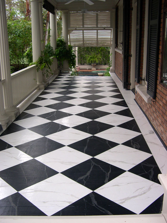 Patterned Floors Painted Stencilled To Perfection Sheila Zeller Int