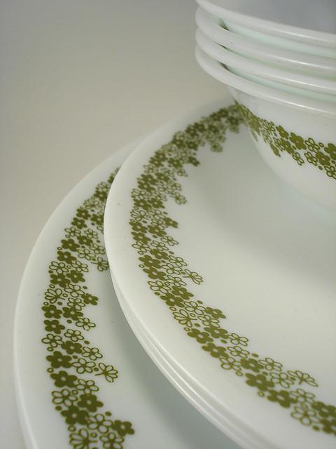 Source. Dinner plates ... & Corelle Dinnerware: Do You Remember Whenu2026? u2013 Sheila Zeller Interiors