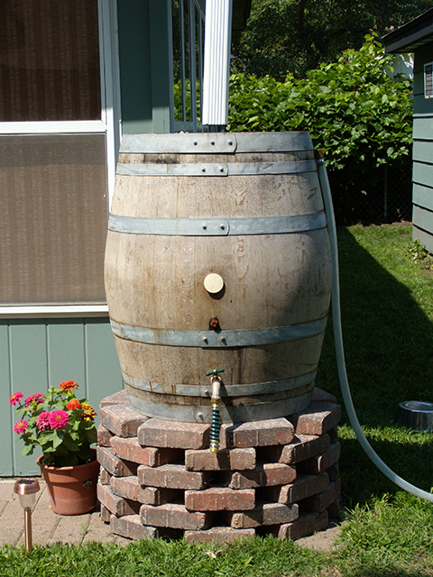 Turning Rain Barrels Into Curb Appeal Sheila Zeller