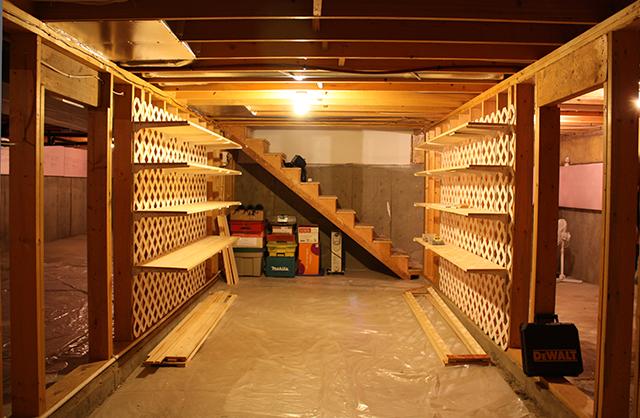 basement storage sheila zeller interiors
