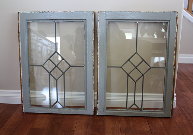 Old Leaded Glass Windows