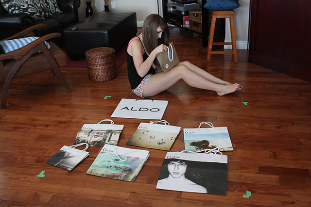 A Teen's Collection of 'Shopping' Art