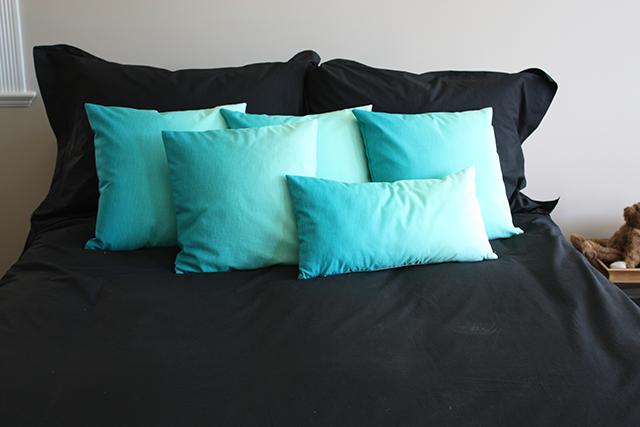 DIY: Turquoise Throw Pillows Revealed