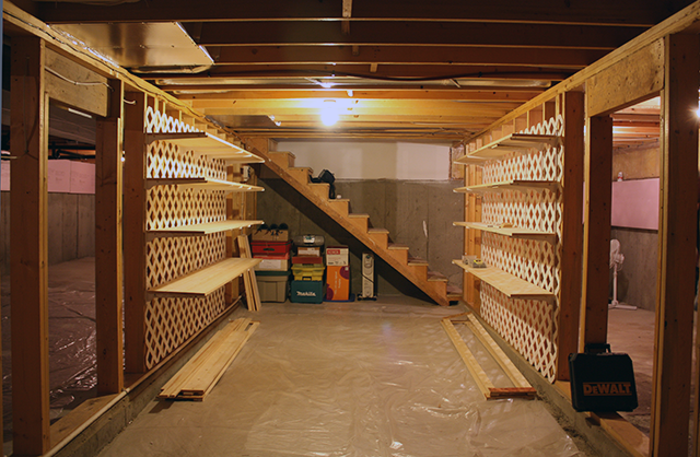 Woodworking Build Homemade Basement Storage Shelves Plans