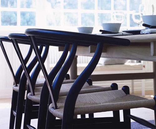 Hans wegner s wishbone chair sheila zeller interiors for Wishbone chair table