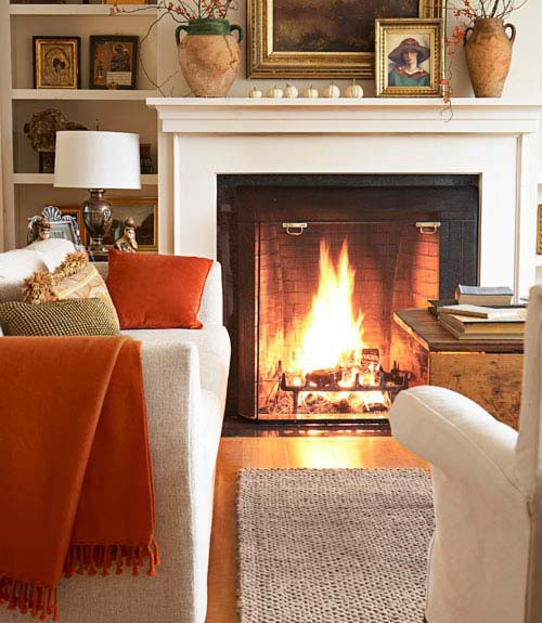 Fireplaces, Throws And A Little Autumn Cozy
