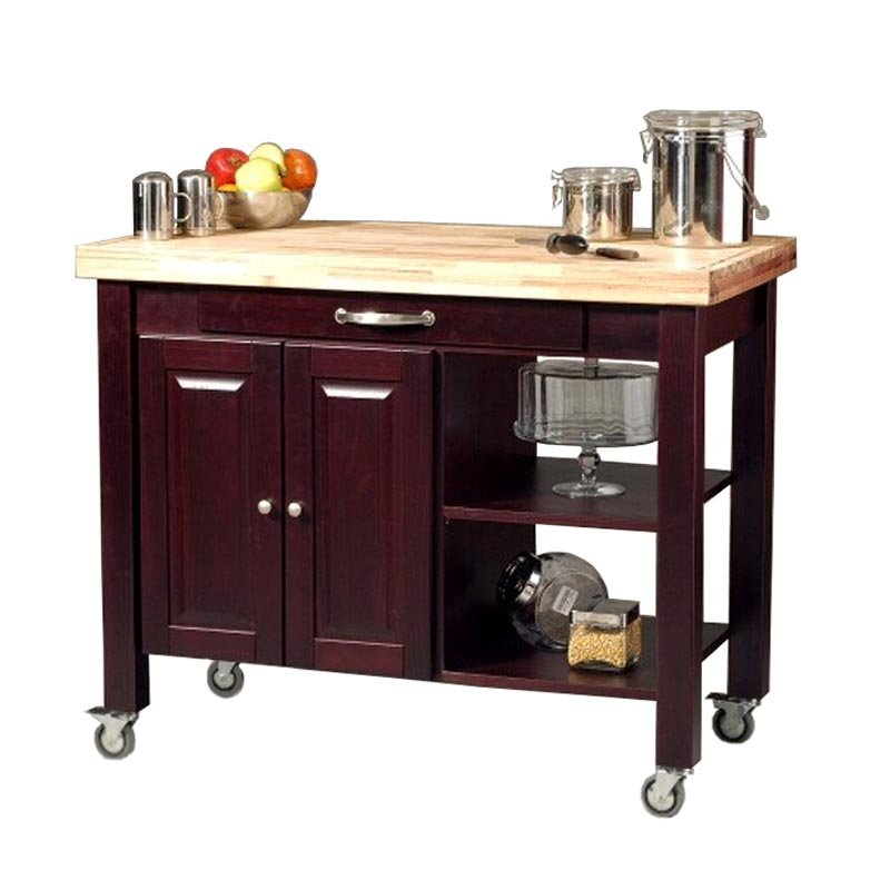 Floating in space kitchen carts portable islands - Small butcher block island ...