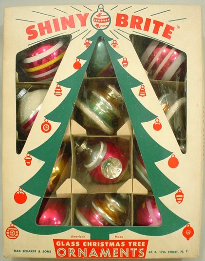 Shiny brites vintage glass christmas ornaments sheila for What to do with old christmas ornaments