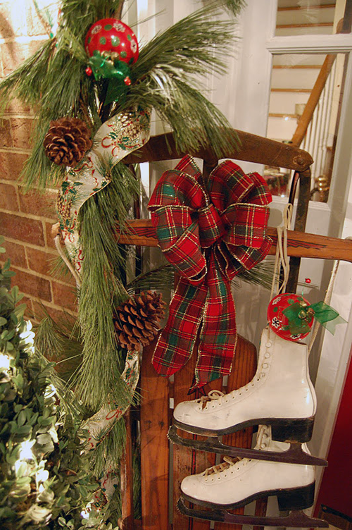 Country Christmas Decor Outside : A cutting edge on wreaths sheila zeller interiors