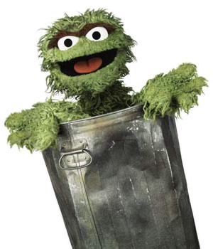 Vintage Trash Cans: I Forgot About Oscar!