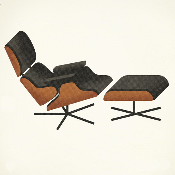 Illustrated mid century pieces at a glance sheila zeller for Iconic mid century modern furniture