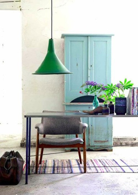 Murano table lamps sheila zeller interiors for Kelly green decor