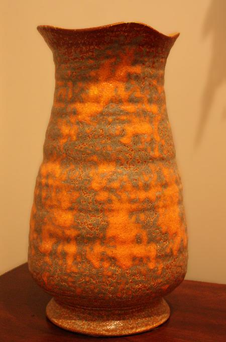 A Royal Haeger Vase Orange Peel Lava Glaze Sheila Zeller Interiors