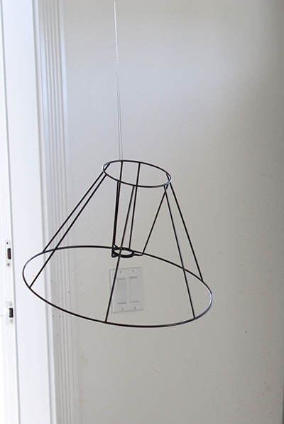 Painting Wire Frame of Lamp Shade