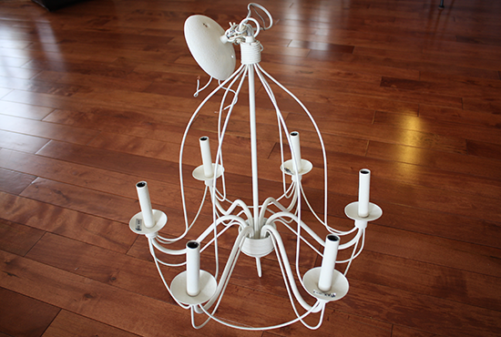 Wrought Iron Candle-Socket Chandelier