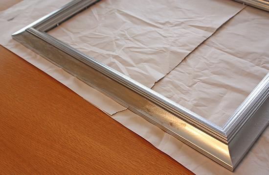 Rub 'N Buff application on plastic frame