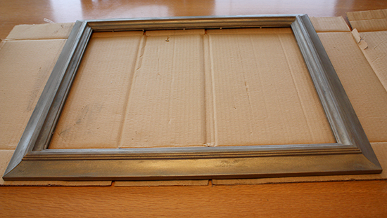 Frame DIY Makeover - After - Pearl Ex Pigment over Rub 'N Buff