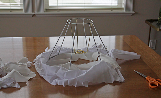 Frame inside Cotton Lamp Shade
