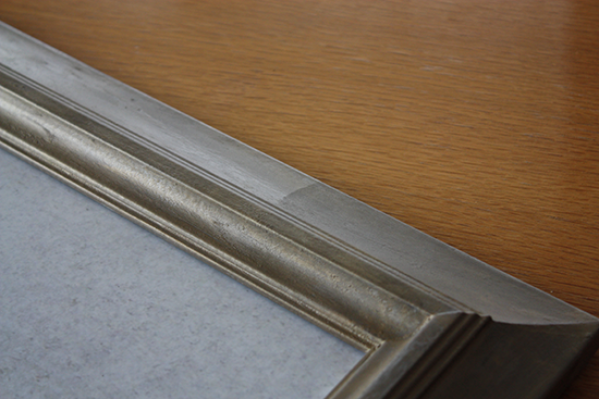 Annie Sloan Clear Wax over Rub 'N Buffed Frame