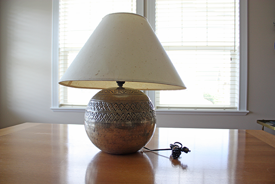 Round Base Lamp - Metal