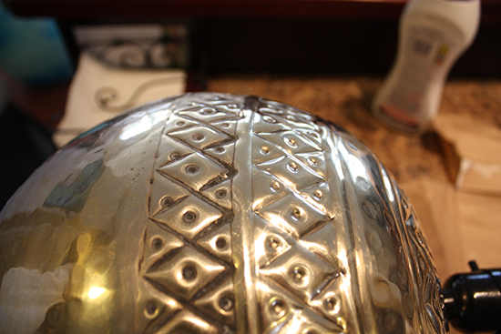 Removing Tarnish from Metal Lamp