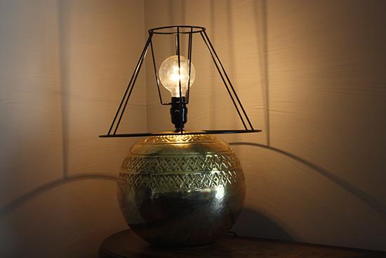 Skeleton Lamp Shade on Metal Lamp
