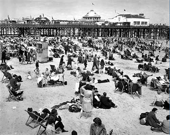 John Moore Deck Chairs on Brighton Beach