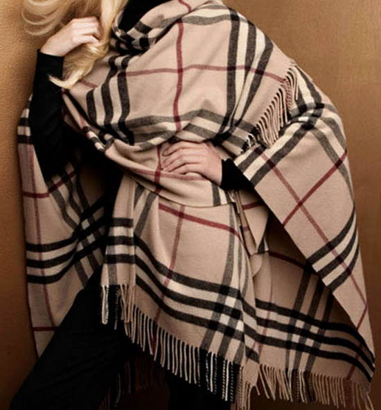 Classic Burberry Plaid Shawl