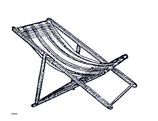 John Thomas Moore: Adjustable Folding Deck Chair
