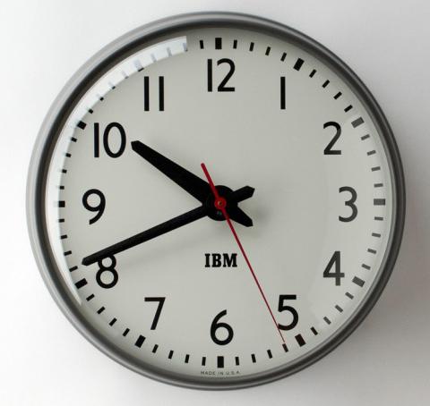 Classic IBM Indicator Clock