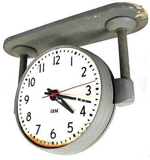 Iconic IBM Standard Issue Clock