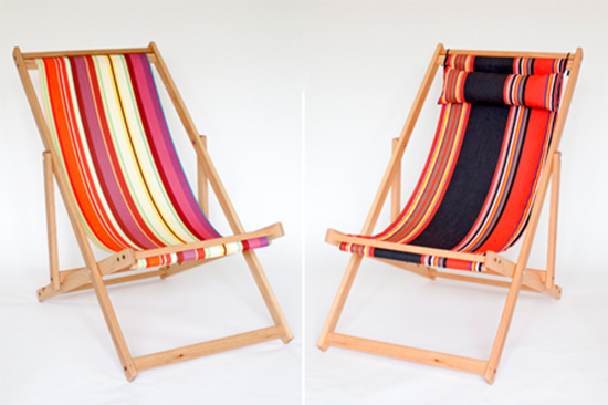Gallant & Jones Striped Deck Chairs