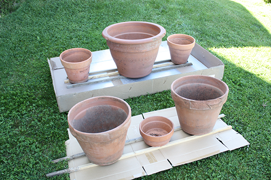 Prepping Terracotta Pots to Paint