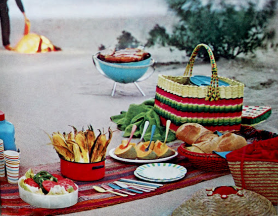 Vintage Round BBQ