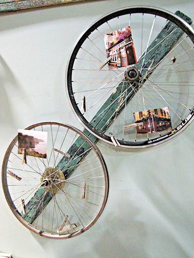 Artwork Displayed on Bike Rims