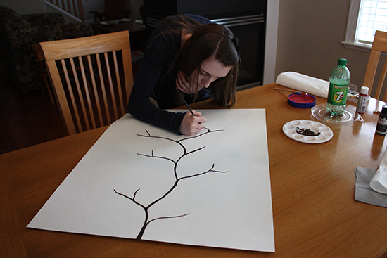 Painting Cherry Blossom Branches