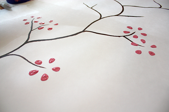 Creating Painted Cherry Blossoms