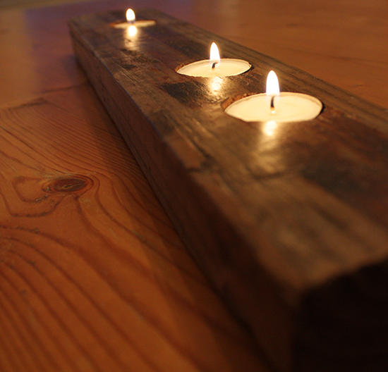 Reclaimed 2x4 Tea Light Holder