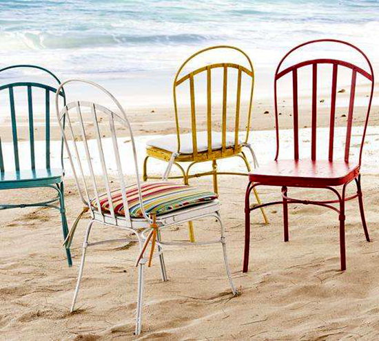 Colourful Metal Bistro Chairs