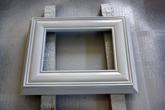 Gray Spray Painted Photo Frame