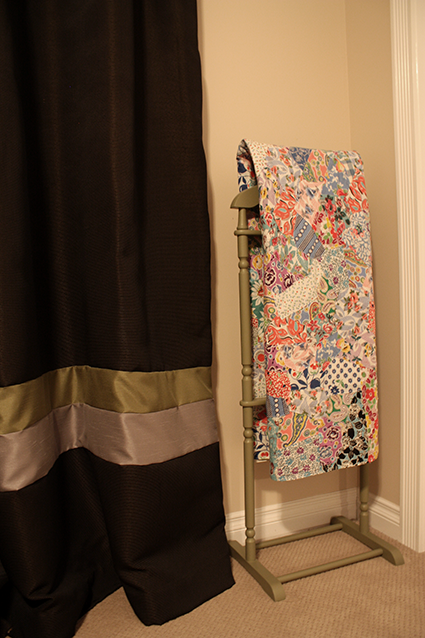 Vintage Handmade Quilt on Quilt Rack