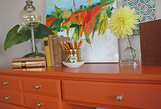 Desk Painted with Para Paints 'Sweet & Juicy' P5072-85