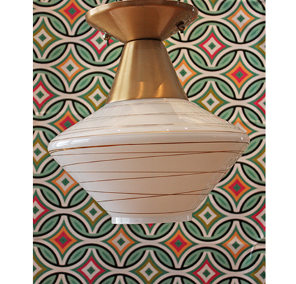 Mid-Century Modern Ceiling Mount Light Fixture