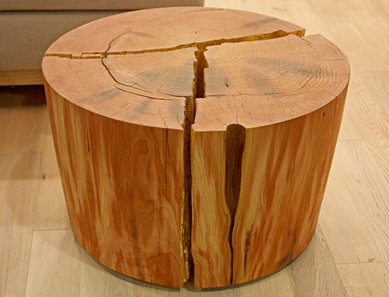 Kelly Deck Design - Reclaimed Stump Side Table
