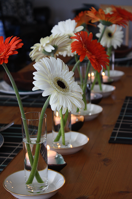 Gerber Daisies for Table Centrepiece