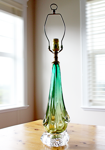Vintage Murano Glass Lamp c1950s